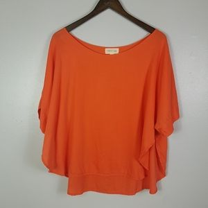 Cloth & Stone Tencel Top With High Slits Up Sides